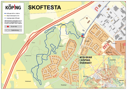 Mountainbikespår i Skoftestaskogen